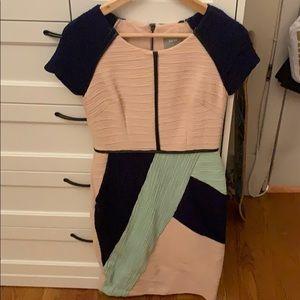 Anthropologie color block dress- maeve size 4